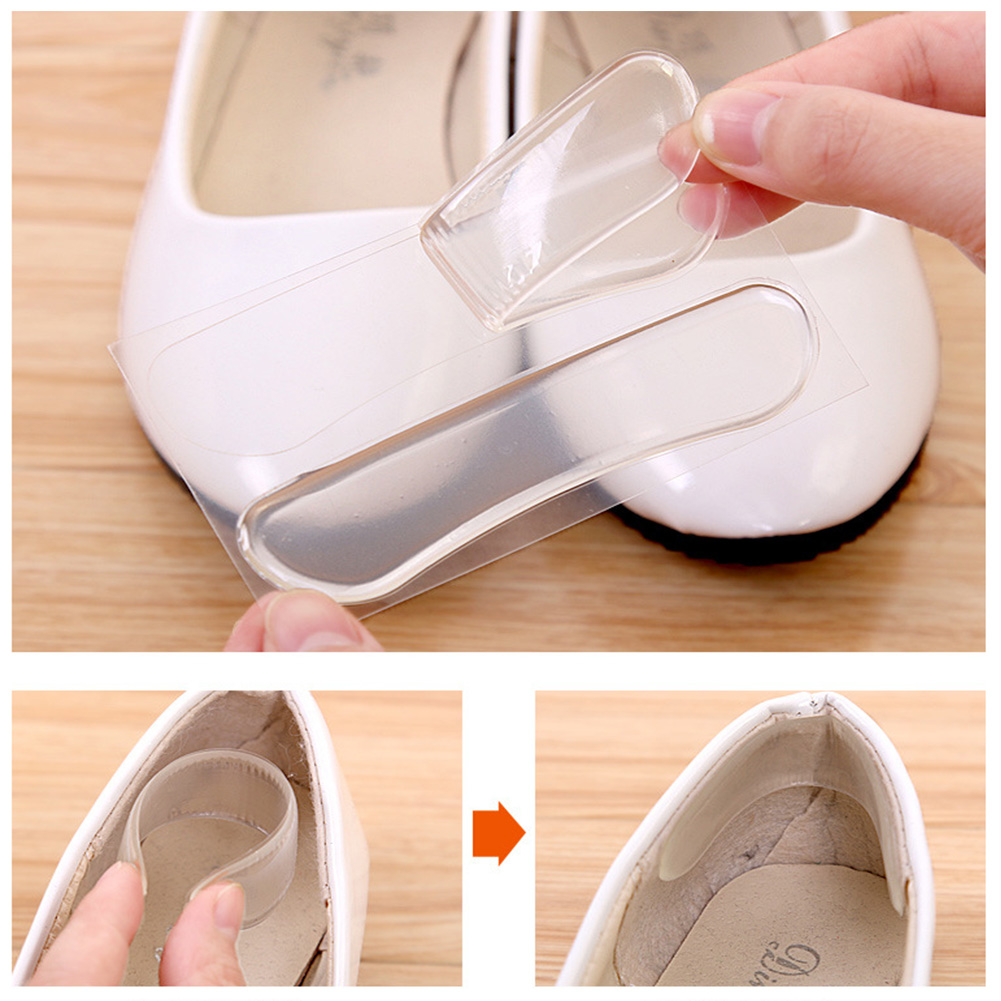 Silicone Gel Heel Cushion Protector Foot Feet Care Shoe Insert Pad Insole Foot Care Soft Pain Relief For Women