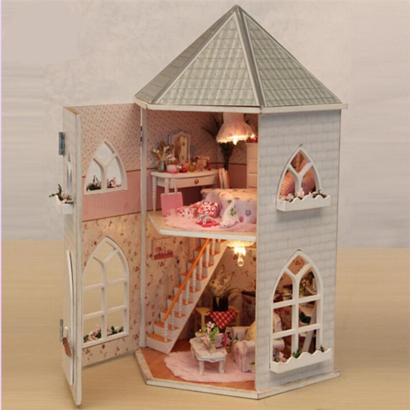Love Fortress деревянная Сборная модель здания дом Валентина рождественский подарок DIY фигурки миниатюрные украшения ремесла - 6