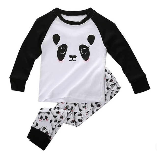 71580f263 HOT SALE Cute Panda Baby Toddler Kids Boys Girls Sleepwear Nightwear ...