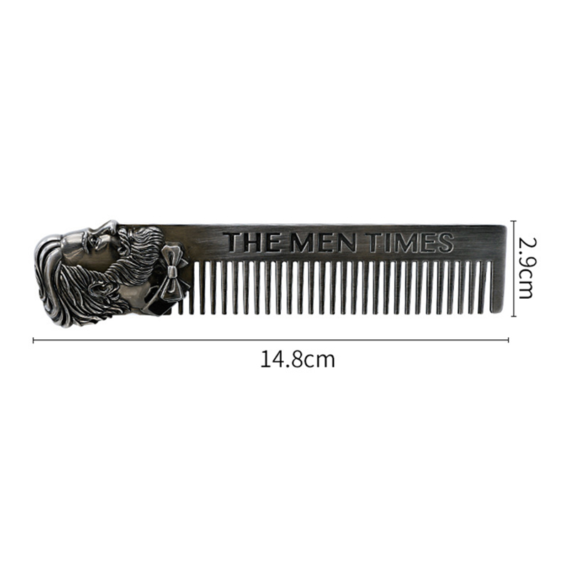 Купить с кэшбэком Beard Comb Men Hair Beard Trim Tool Cool Men Beard Shaping Template Stainless Steel High Quality