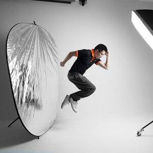 Image 4 - Портативный складной Круглый отражатель для фотостудии Godox 150x200 см 5 в 1 59x79 дюймов