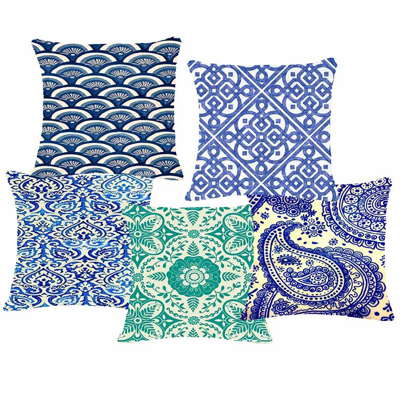 2016 New Vintage Chinese Traditional Pattern Decorateive Cushion Cover Ethnic Geometric Throw ...