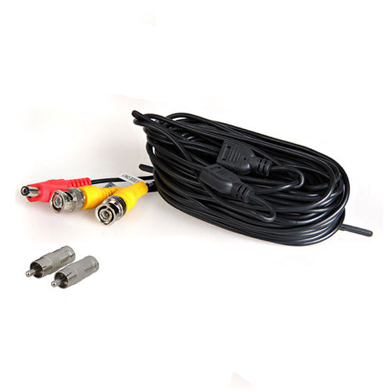 2*15m BNC Video Power Siamese Cable for Analog AHD CVI CCTV Surveillance Camera DVR Kit ...