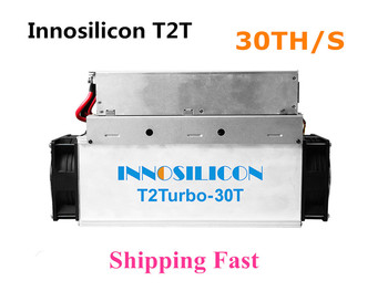 Nowy inosilicon T2T 30T z PSU Bitcoin BTC BCH górnik lepiej niż Antminer S9 S11 S15 S17 T9 + T15 T17 WhatsMiner M3 M10 tanie i dobre opinie YUNHUI 2200w+10 10 100 mbps New Innosilicon T2T 30t 10kg In Stock