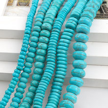 ManmadeStone Sky Blue Turquoises Howlite Beads Abacus Loose Spacer Seed Stones Beads DIY Bracelets Necklace Jewelry Findings(China)