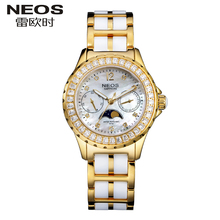 Neos 2017 New Waterproof Fashion Trend Leisure Ceramic Bright ladies watch