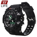 TTLIFE Watch Men Sports Electronic Digital LED Mens Watches 50M Water Resistant Running Army Military Wrist Watches for Men TS04