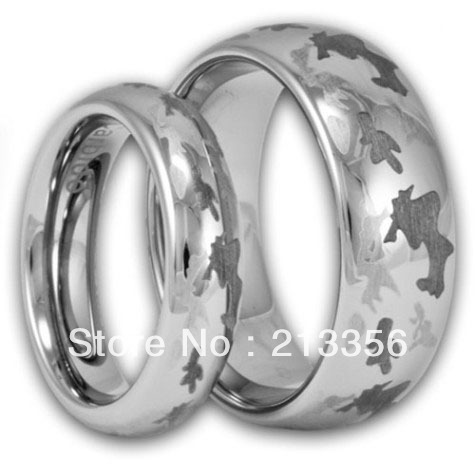 usa wholesales cheap price brazil russia canada uk hot sales silver dome - Cheap Camo Wedding Rings