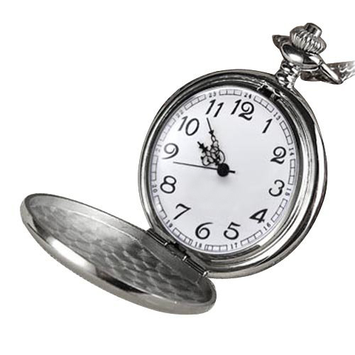 Cool Chrome Chain Pocket Watch (Silver)