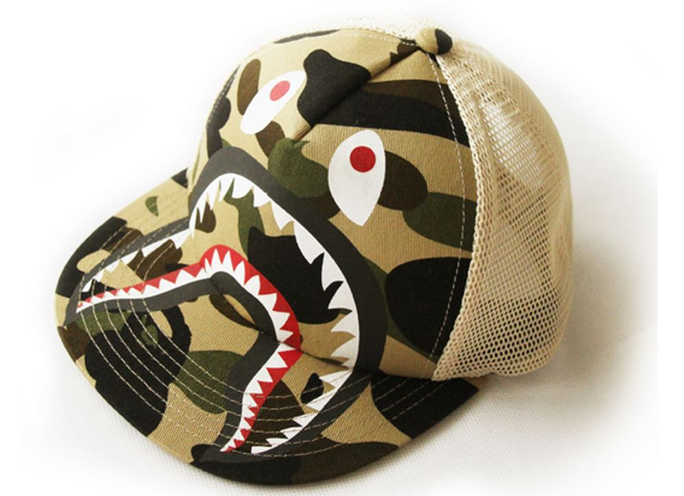 Free shipping bape shark camo mesh baseball cap for kids and adults   head-in Baseball Caps from Apparel Accessories on Aliexpress.com  b0d6499b1ef