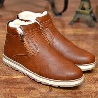 Męskie buty old skool kostki buty zimowe mody pluszowe PU skórzane męskie buty czarne buty retro buty ciepły śnieg