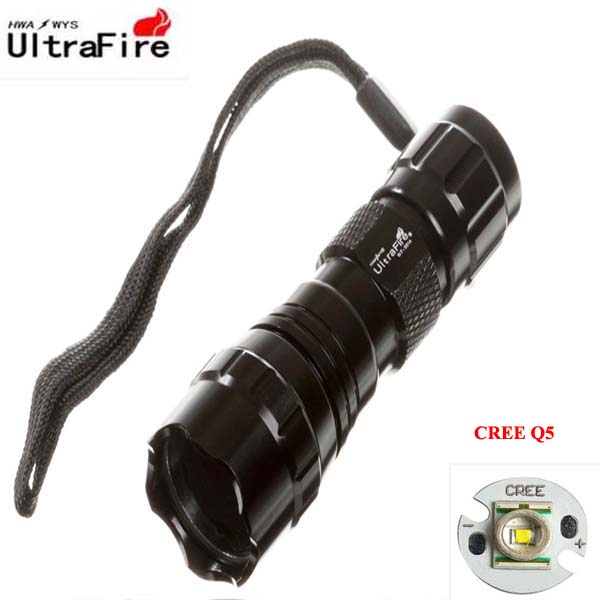 1xcr123a/1x16340 Led Flashlights U-f Wf-501a Cree Q5 5-mode Led Flashlight Led Lighting