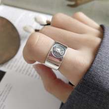 Louleur 925 prata esterlina imperatriz avatar anéis de prata moda vintage figura índice dedo aberto anéis para mulheres jóias finas