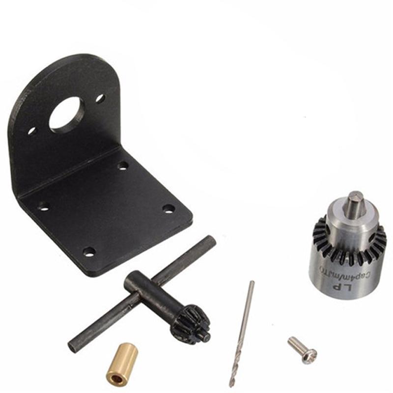Electric Drill Grinding Mini Drill Chuck Key Keyless Drill Chucks 0.3-4mm Capacity Range W/ 3.17mm Shaft Connecting Rod 0 4 3 4mm keyless chuck universal electric grinding chuck for dremel