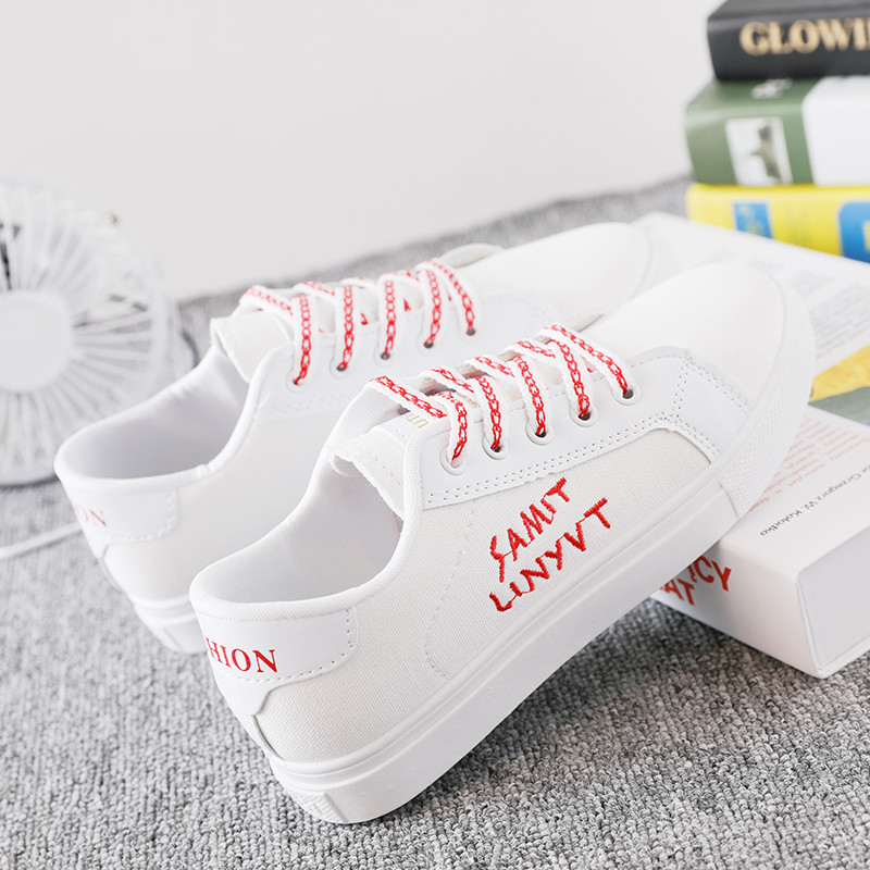 Women 39 s Vulcanize Shoes White Canvas Sneakers 2019 Female Casual Canvas Shoes Women Sneakers Breathable Student Leisure Footwear in Women 39 s Vulcanize Shoes from Shoes