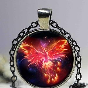 Image 3 - Starry Sky Beast Phoenix Constellation Twelve Gold Color Saint Seiya Glass Pendant Necklace Childrens Classic Comic Memory Gift