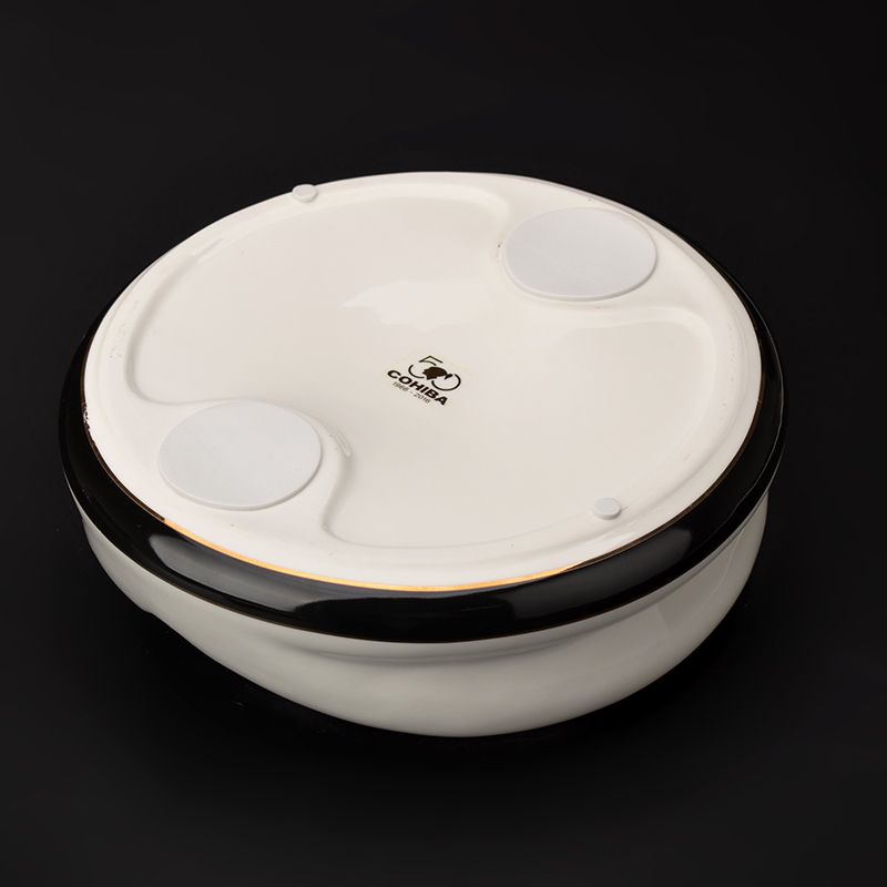 COHIBA High-definition fashion 4 Holder Ceramic Large Size Round Cigar Ashtray