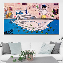 Alec Monopoly Wolf Of Wall Street Canvas Painting Prints Living Room Home Decoration Modern Art Oil Poster Picture