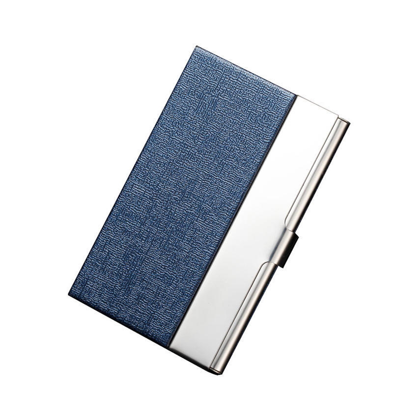 2018 Aluminum PU Leather Business Credit Card Holder For Women Men Steel Portable ID Name Card Bank Male Cardholder