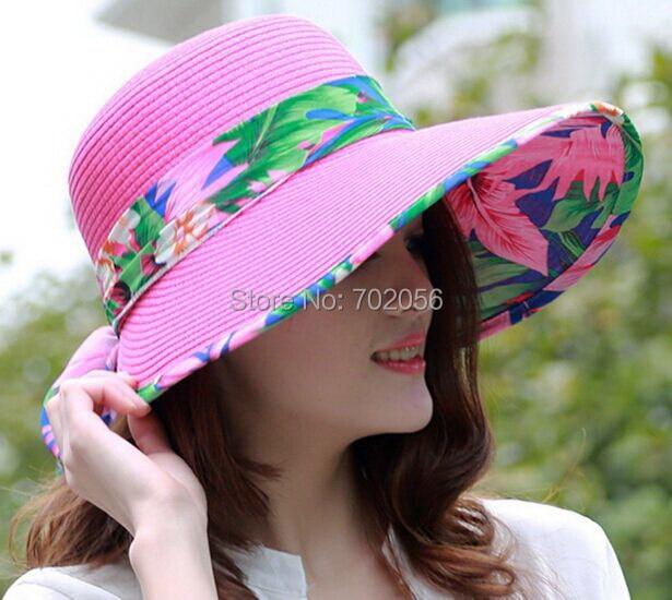 women Wide Large Floppy Brim Summer Beach Sun Straw Beach Derby Hat Cap  7colors  3860 ef28ae89e371