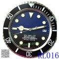 Это То, Что Вы Хотите! Rlx Окончил Цвет Синий Черный Мода Современный Дизайн Настенные Часы Металла Часы Часы с логотипом R112