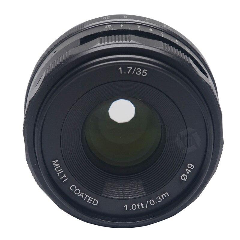 Mcoplus Meike 35mm f1.7 Prime naprawiono instrukcja soczewka skupiająca dla Fujifilm X do montażu na lustra APS C kamera X A2 X E2 X M1 X T1 x Pro1 w Obiektywy do aparatu od Elektronika użytkowa na  Grupa 1