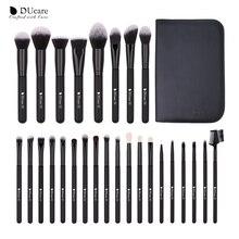 DUcare איפור מברשת סט 27PCS מקצועי איפור מברשות קרן אבקת מתאר צללית גבות מיזוג מברשת יופי כלי