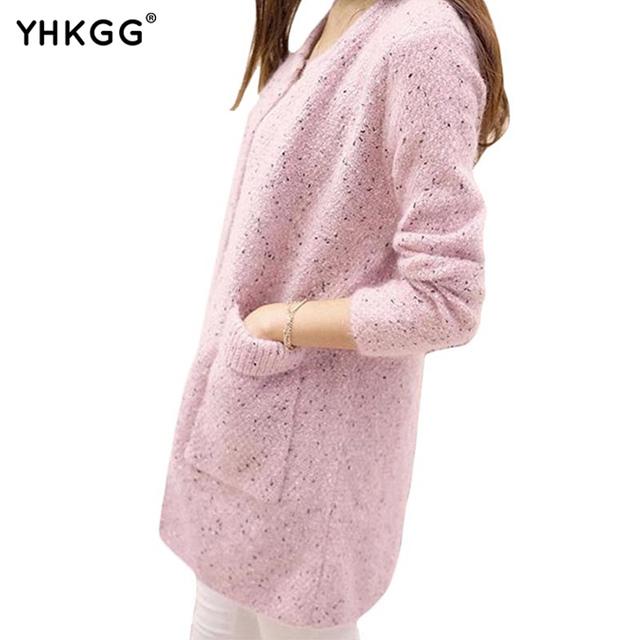 2016 moda Feminina New outono e inverno das mulheres em torno do pescoço suéter de cashmere puro camisola casaco cardigan camisola das mulheres