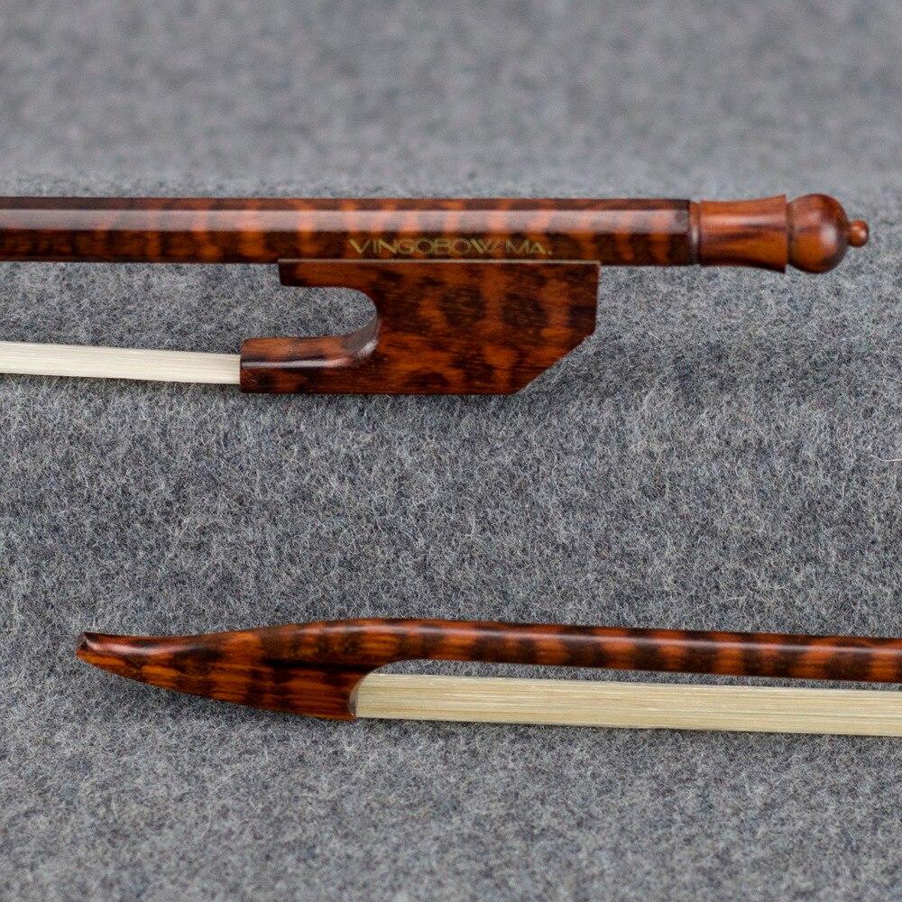 600 v 4/4 Pleine Taille Lumière Baroque ARCHET de violon Amourette Bâton et Grenouille Naturel Mongolie Crin Droite Violon Partie Accessoires