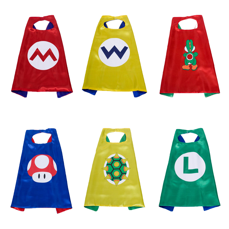 Super Mario Cape Costume kids birthday party favor Superhero Style Cosplay Costumes and Halloween Gift
