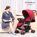 Paraguas coche de bebé cochecito de bebé ultra portátil invierno verano mano puede sentarse y acostarse plegable suspensión de coche de bebé niño