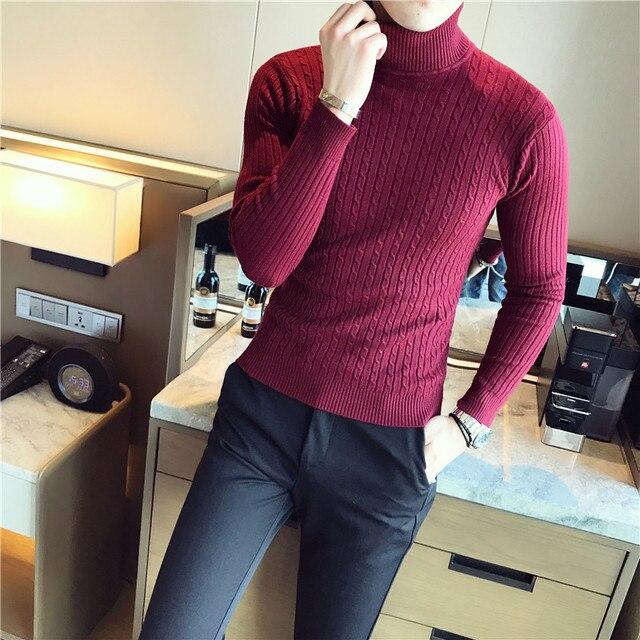 5 Colors Men Turtleneck Sweater  3