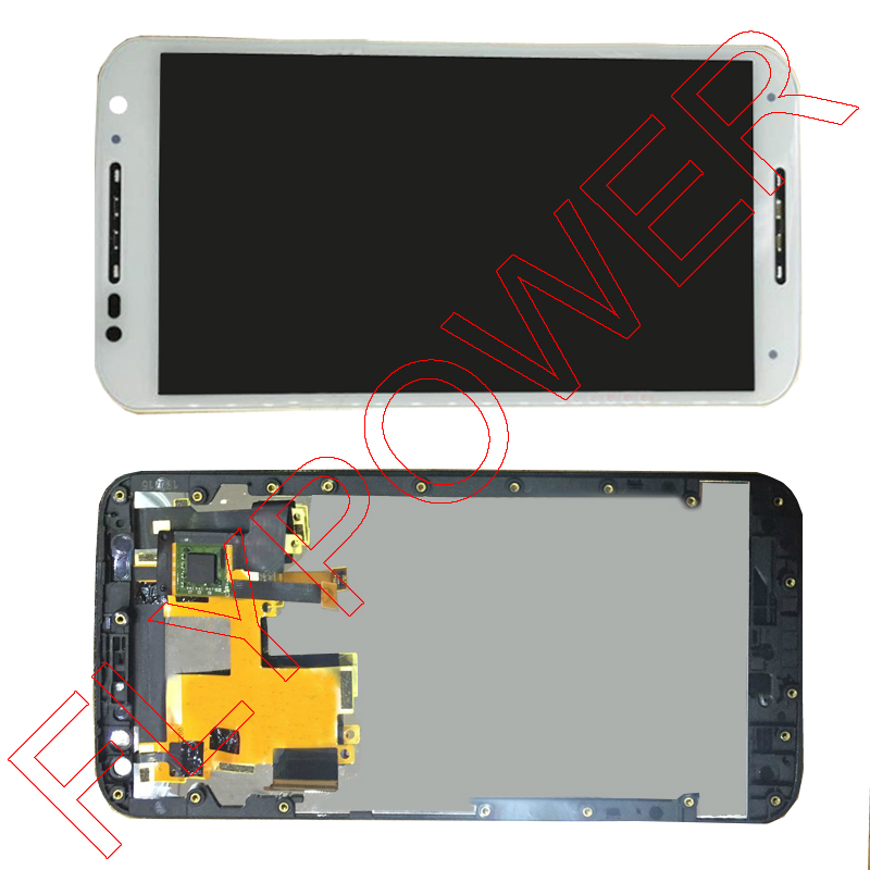 ФОТО For motorola Moto X Style X3 XT1575 XT1572 XT1570 LCD Display Screen With White Touch Digitizer + Frame Assembly Free Shipping