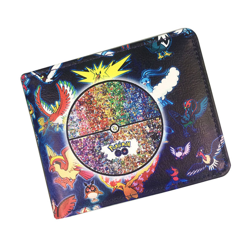 2017 New Pokemon Go Purse Cartoon Anime Pocket Monster Wallets Leather Card Holder Bags Men Women Fashion Casual Short Wallet pokemon go new pokeball toy 2016 5styles new puzzle 3d miniature building blocks assembled anime abs super master pokemon ball