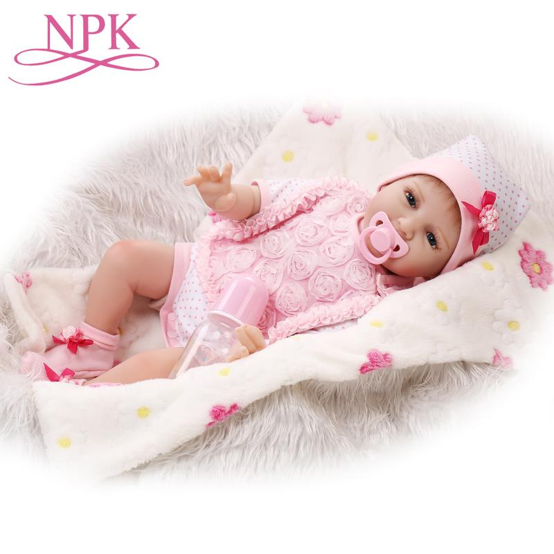 NPK 55cm Super Realistic Simulation Girl Dolls Toy Soft Full Body Vinyl Reborn Baby Doll bebe reborn silicone jooyooNPK 55cm Super Realistic Simulation Girl Dolls Toy Soft Full Body Vinyl Reborn Baby Doll bebe reborn silicone jooyoo