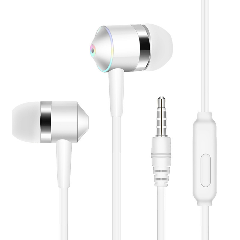 1pcs Universal Mobile Phone Headset In-ear Mobile Phone Headset Line Control Subwoofer With Wheat Earphones For IPhone Accessory