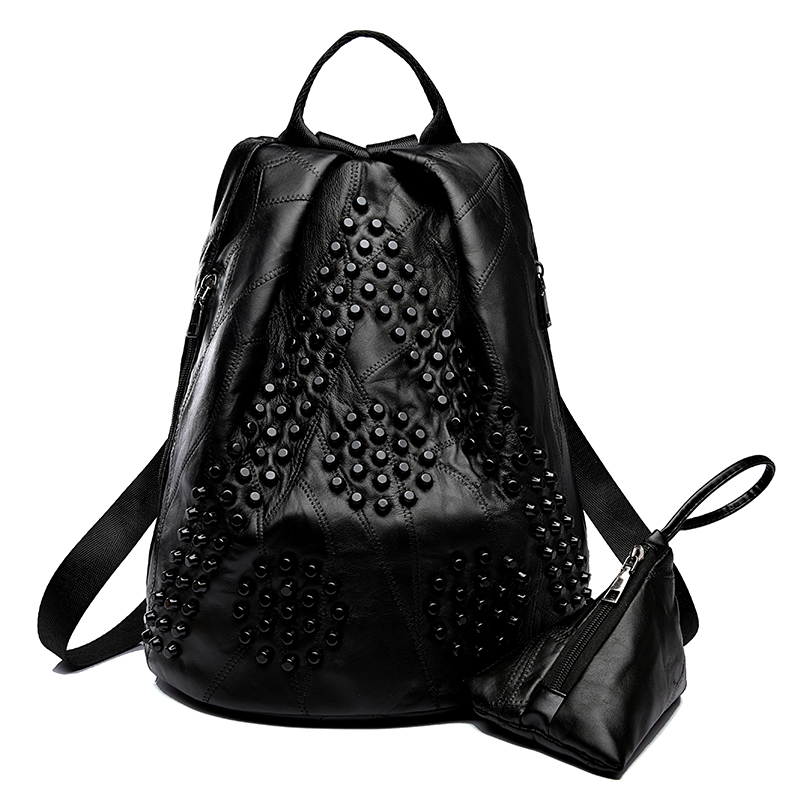 2018 New Fashion Woman Backpack Leather Brands Female Backpacks Women Backpacks Women's Sheep Leather Backpacks