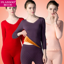 2016 Thick Velvet Thermal Underwear High Density Long Johns Lady Warm Winter Slim Sexy Women Thermal Necessary Brand Intimates