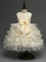 Baby Girl Clothes Sleeveless 1 Year Birthday Dress Ball Gown Dress Cute Roupas De Bebe Recem