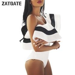 2017 white black mesh ruffle one shoulder bodysuit womens patchwork sleeveless sexy romper novelty casual mujer.jpg 250x250