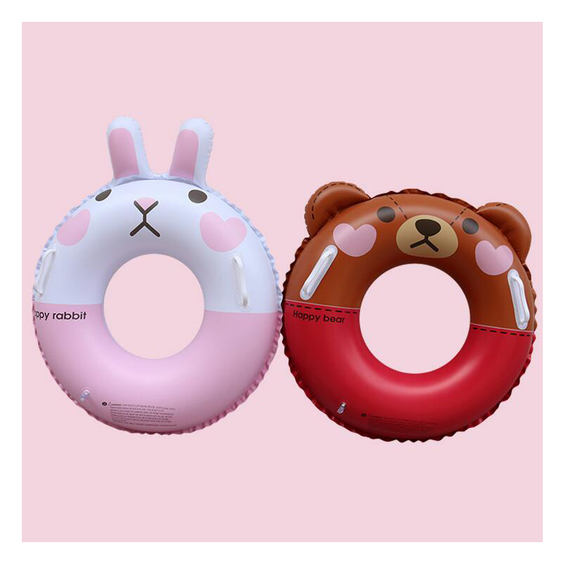 Child Inflatable Swimming Circle Ring Party Fun Brown bear cony rabbit Inflatable Pool Float Party Toy Water Sport Swim Rings