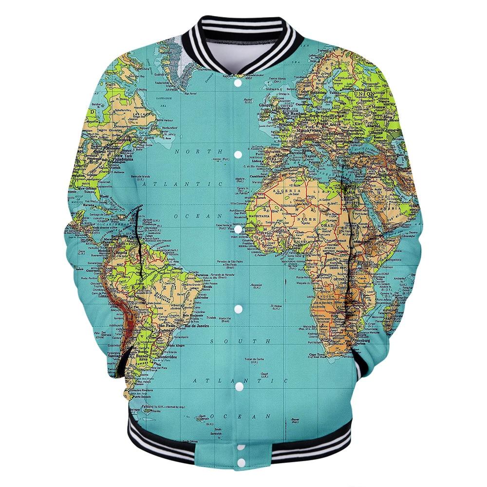 US $13.78 47% OFF|WORLD MAP 3D Jackets Men Women Coats 3D Jacket Casual  Winter 3D Baseball Jacktes Mens Sweatshirt print WORLD MAP clothing-in  Jackets ...