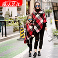 2016 New Autumn  Mom and Daughter Coat  Matching Mother and Daughter Family Clothes Girls and Mom coat 2 color Shawl coat cape