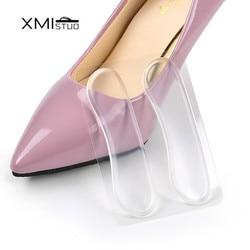 XMISTUO 6 paire/lot Silicone Gel talon doublure soins des pieds chaussures tampons transparent antidérapant protecteur invisible coussin semelle intérieure
