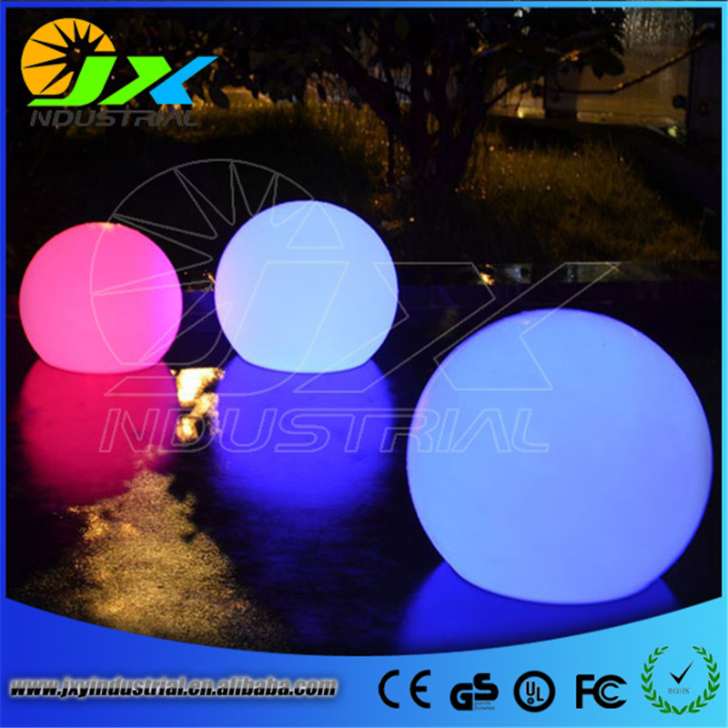 led rechargeable balls/ 35cm Wireless rechargeable waterproof led ball colorful light remote control outdoor&garden decoration