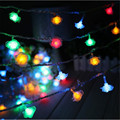 Fashion Holiday Lighting 20 x LED Novelty Rose Flower Fairy String Lights Wedding Garden Party Christmas Decoration