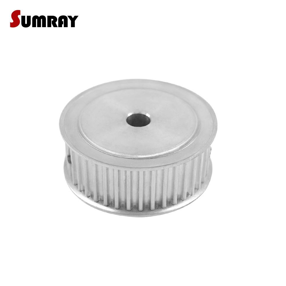 SUMRAY 5M 40T Timing Belt Pulley 6/6.35/8/10/12/12.7/14/15/16/17/20/25mm Bore Stepper Motor Belt Pulley 5mm Pitch Gear Pulley