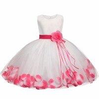 Tutu Flower Baby Dress Round Collar Sleeveless Infant Baby Petal Dresses For 1 Years Toddler Birthday