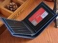 Bogesi Billetera Para Hombre de Marca famosa Diseñador de Moda de Cuero Genuino Ultrafino Pequeño Corto Titular de la Tarjeta Monedero Bifold Carteras Negro