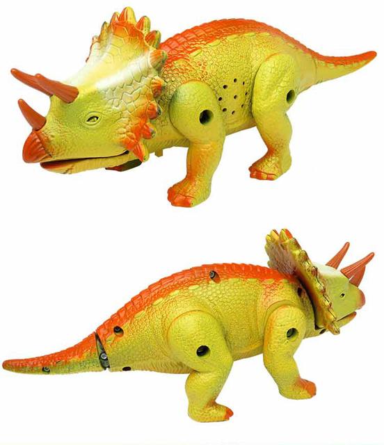 NewPlastic Kid Juguete Electrónico Spinosaurus Dinosaurio Triceratops Juguetes de Los Niños
